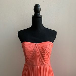 David's Bridal Coral Strapless Gown Size 6